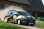 Sekundenkämpfe im ADAC OPEL Rallye Cup