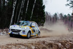Gemischte Gefühle im ADAC Opel Rallye Junior Team